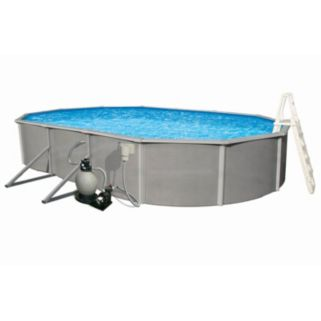 Blue Wave Belize 21' x 41' Oval Metal Wall Swimming Pool Set