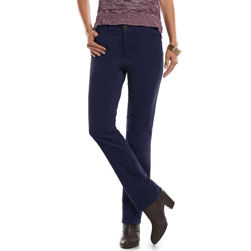 Chaps Straight-Leg Corduroy Pants - Women's