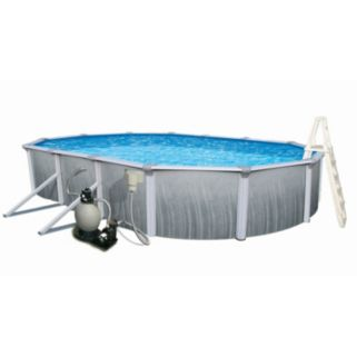 Blue Wave Martinique 15' x 30' Oval Metal Wall Swimming Pool Set