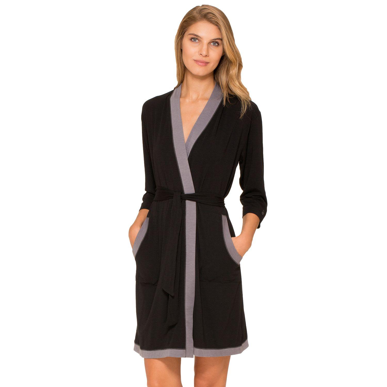 Womens Cuddl Duds Pajamas: Essentials Wrap Robe