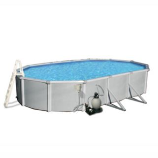 Blue Wave Samoan 21' x 41' Oval Metal Wall Swimming Pool Set