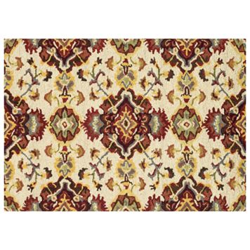 Loloi Mayfield Red Floral Wool Rug