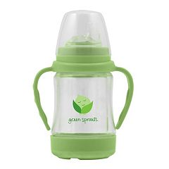 Green Sprouts by i play. Glass Sip 'n Straw Cup