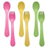 Green Sprouts by i play. 6-pk. Sprout Ware Fork & Spoons