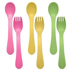 Green Sprouts by i play. 6 pkSprout Ware Fork & Spoons