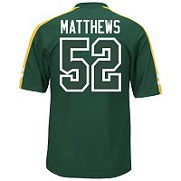 Men's Majestic Green Bay Packers Clay Matthews Hashmark Player Top