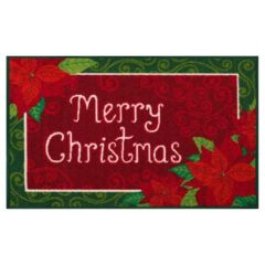 St. Nicholas Square® Merry Poinsettia Rug - 20'' x 30''