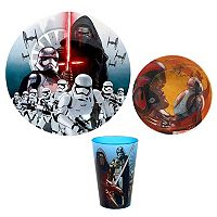 Star Wars: Episode VII The Force Awakens 3 pc Melamine Dinnerware Set