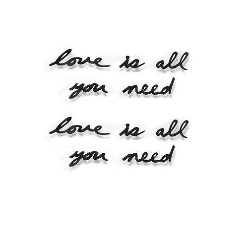 Umbra ''Love Is All You Need'' Mantra Wall Decor
