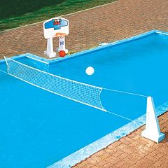 Swimline In-Ground Pool Jam Volleyball & Basketball Game Set by