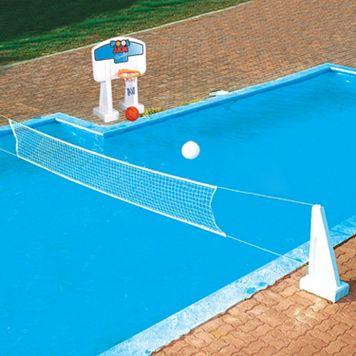 Swimline In-Ground Pool Jam Volleyball & Basketball Game Set