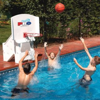 Swimline Cool Jam Pro In-Ground Poolside Basketball Game Set