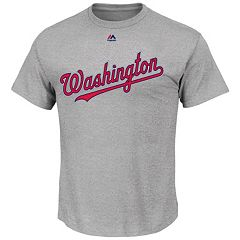 Big & Tall Majestic Washington Nationals Official Road Wordmark Tee