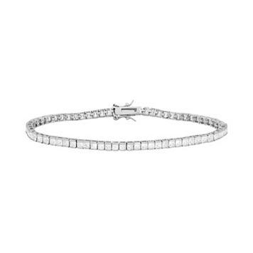 Sterling Silver Cubic Zirconia Tennis Bracelet