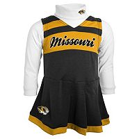 Toddler Missouri Tigers Cheerleader Jumper Set