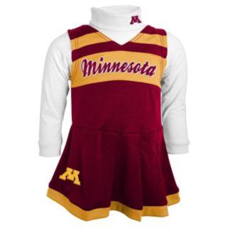 Toddler Minnesota Golden Gophers Cheerleader Jumper Set