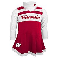 Toddler Wisconsin Badgers Cheerleader Jumper Set