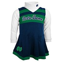 Baby Girl Notre Dame Fighting Irish Cheerleader Jumper Set