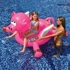 Swimline LOL 54 in Pig inflatable Ride-On Pool Toy