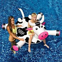 Swimline LOL 54 in Cow inflatable Ride-On Pool Toy