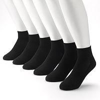 Men's Tek Gear® 6-Pack Performance Quarter-Crew Socks
