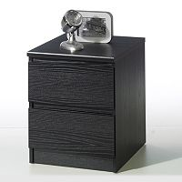 Tvilum Scottsdale 2-Drawer Black Nightstand