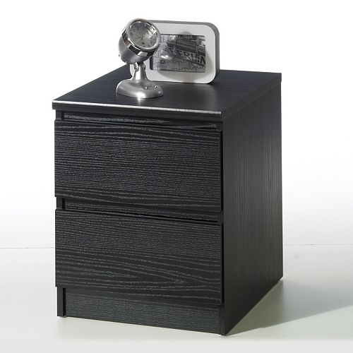 Tvilum Scottsdale 2-Drawer Black Nightstand