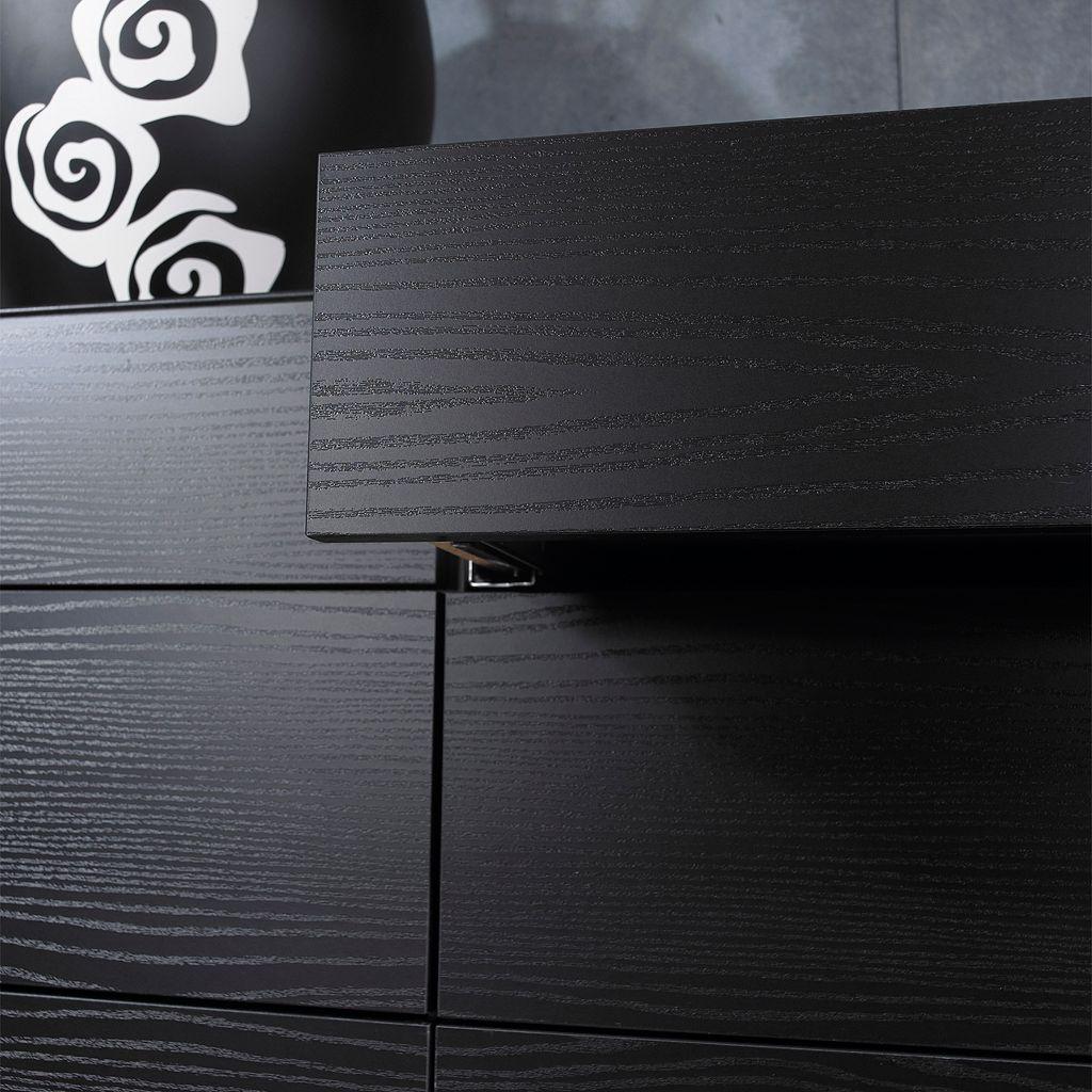 Tvilum Scottsdale 6-Drawer Black Double Dresser
