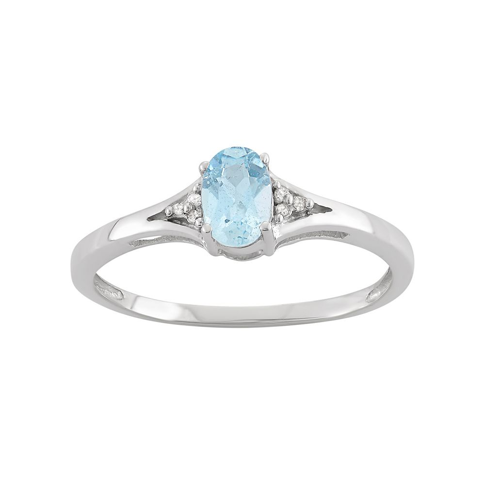 Sky Blue Topaz & Diamond Accent Sterling Silver Ring