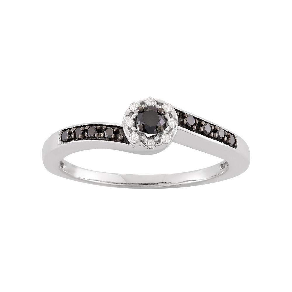 1/5 Carat T.W. Diamond Sterling Silver Halo Ring