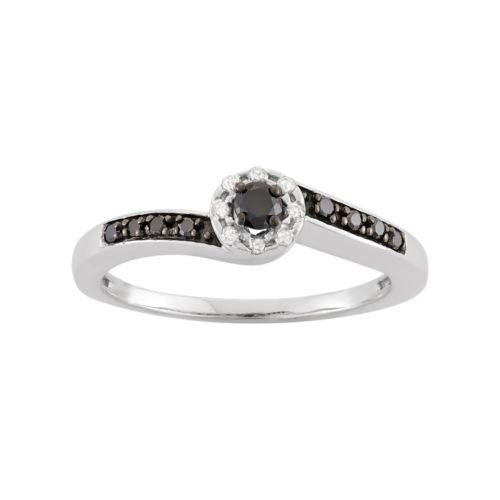 1/5 Carat T.W. Diamond Sterlin...
