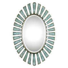 Morvoren Oval Metal Wall Mirror