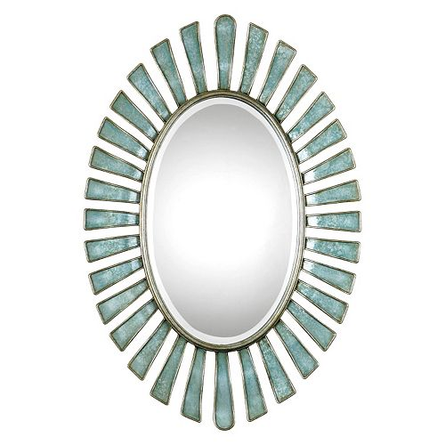 Uttermost Morvoren Oval Metal Wall Mirror