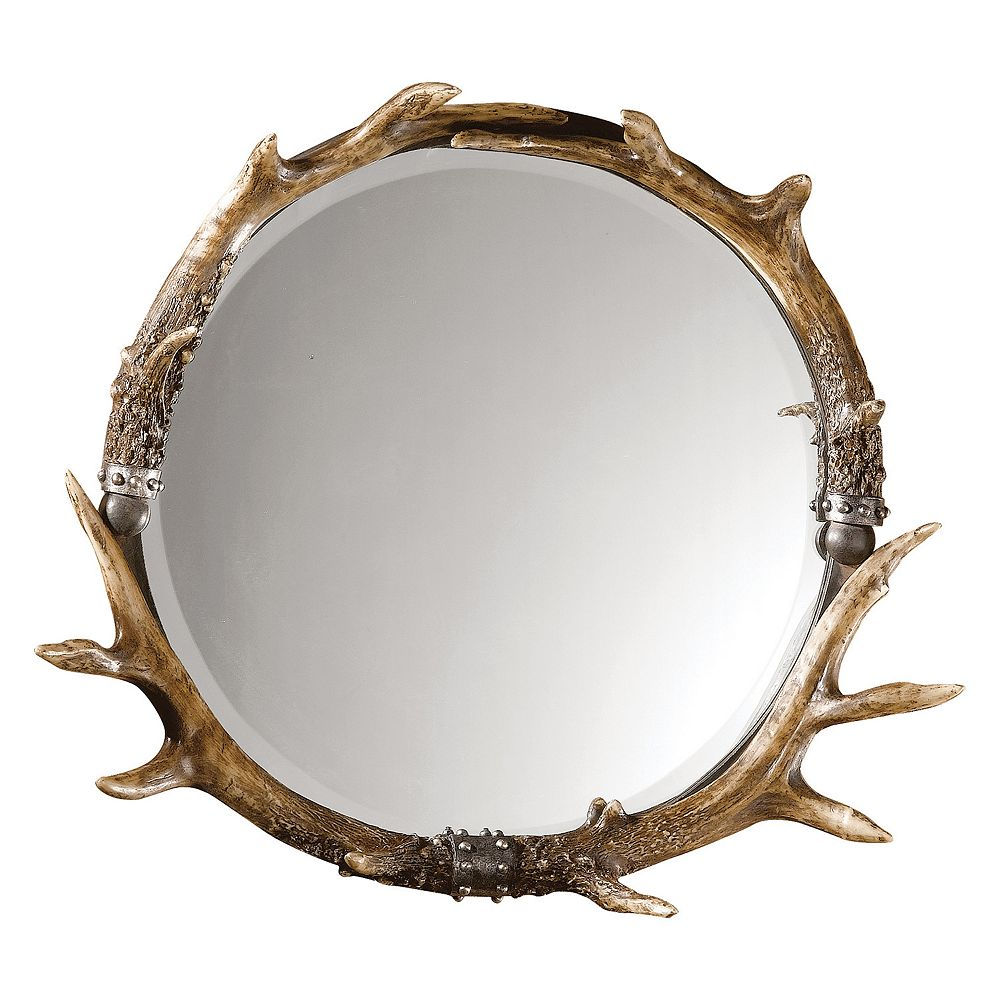 Uttermost Stag Horn Wall Mirror