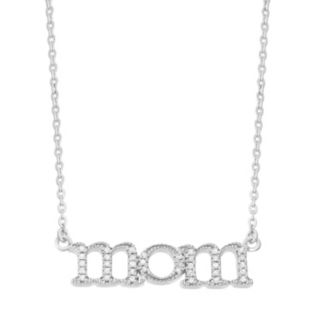"""Diamond Accent Sterling Silver """"Mom"""" Necklace"""