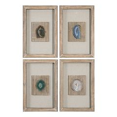 Agate Stone 4-piece Wall Decor Set