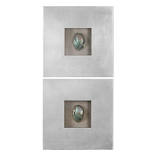 Abalone Shells 2-piece Wall Art Set