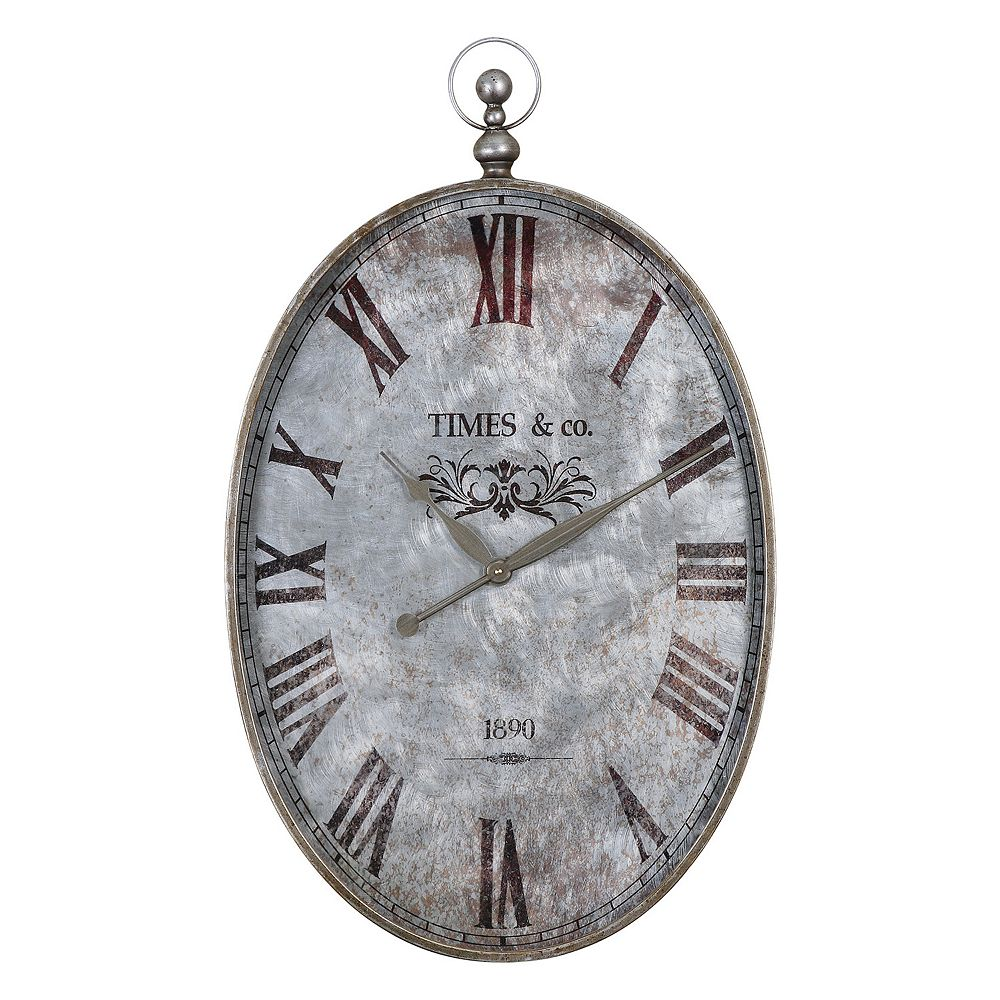Uttermost Argento Wall Clock
