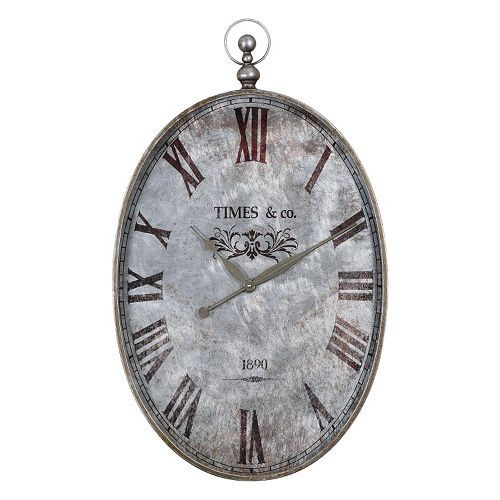 Uttermost Argento Wall Clock