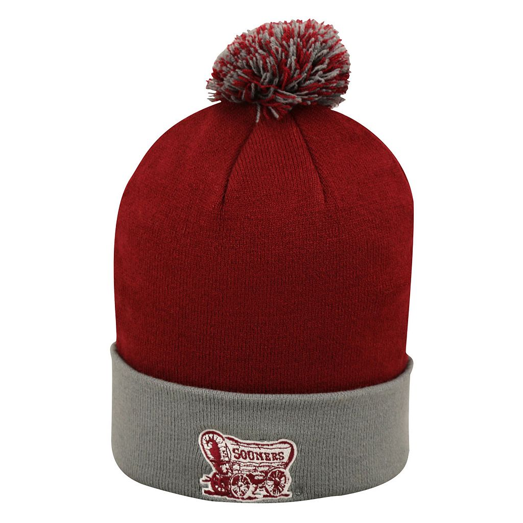 Adult Top of the Wold Oklahoma Sooners Knit Pom Pom Hat
