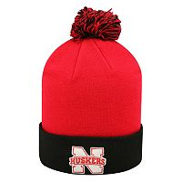 Adult Top of the Wold Nebraska Cornhuskers Knit Pom Pom Hat