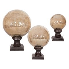 Lamya 3 pc Antique Glass Globe Decor Set
