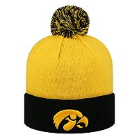Adult Top of the World Iowa Hawkeyes Pom Knit Hat
