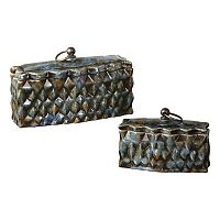 Neelab 2-piece Ceramic Decorative Box Set