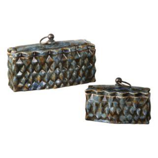 Neelab 2-piece Ceramic Decorative Box Set