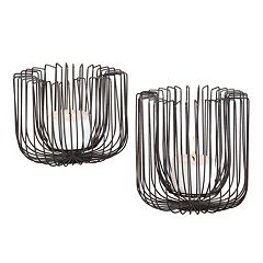 Flare 2 pc Candle Holder Set