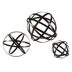 Stetson 3 pc Metal Sphere Table Decor