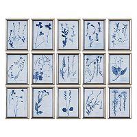 ''Dried Flowers'' 15-piece Framed Wall Art Set by Grace Feyock