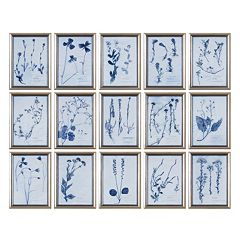 ''Dried Flowers'' 15 pc Framed Wall Art Set by Grace Feyock