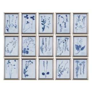 ''Dried Flowers'' 15-piece Framed Wall Art Set by Grace Feyock